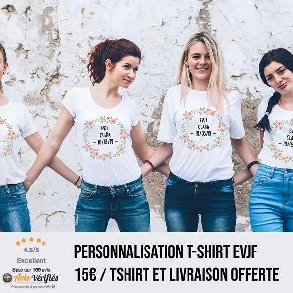 10a8a3e861ac4 ⇒ Tee Shirt EVJF -70% - Enterrement de vie de jeune fille - L ...