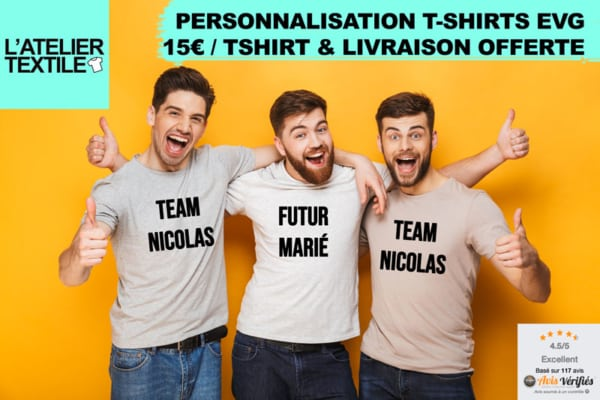 personnalisation tshirt evg