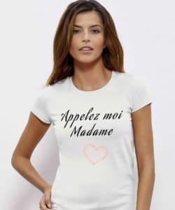 t shirt evjf appelez moi madame