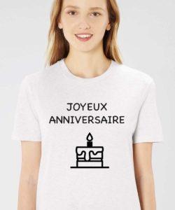 t shirt personnalisé anniversaire