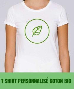 t shirt personnalisé coton bio
