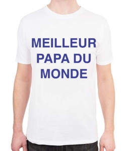 t shirt personnalisé papa