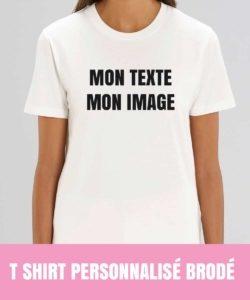 tee shirt personnalisé brodé