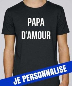 t shirt homme papa d'amour