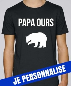 t shirt homme papa ours
