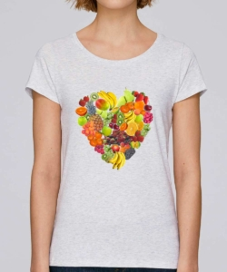 tee shirt vegan amour du fruit