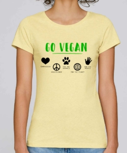 tee shirt go vegan