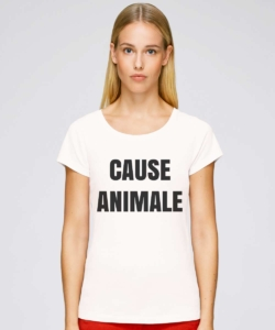 tee shirt cause animale