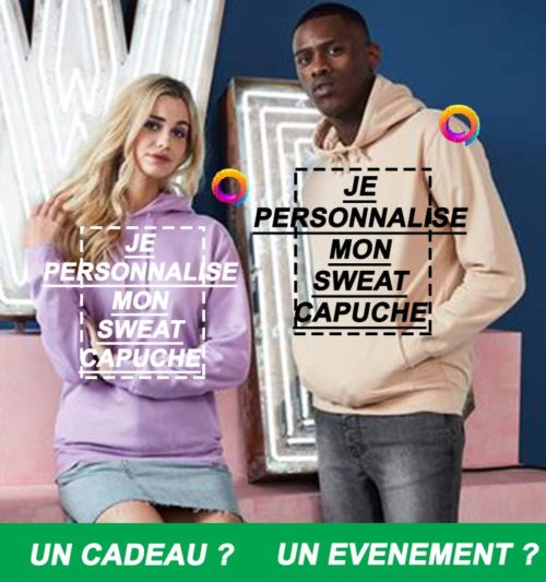 sweat capuche personnalise