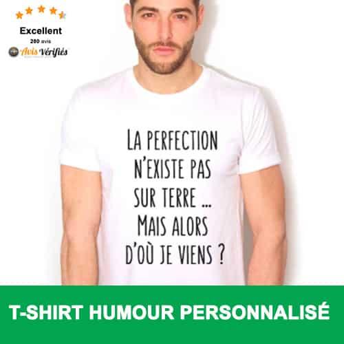Tee Shirt Humour a Message Personnalisé dè