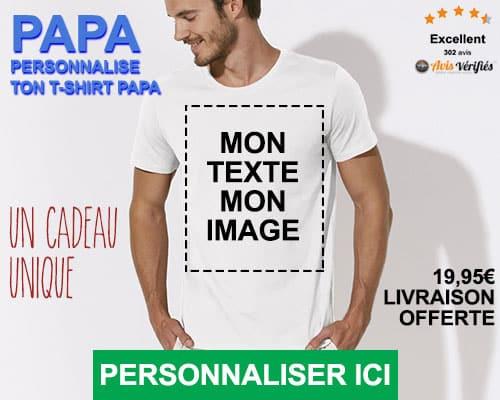 tee shirt papa personnalise