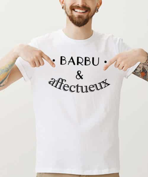 tee shirt barbu et affectueux