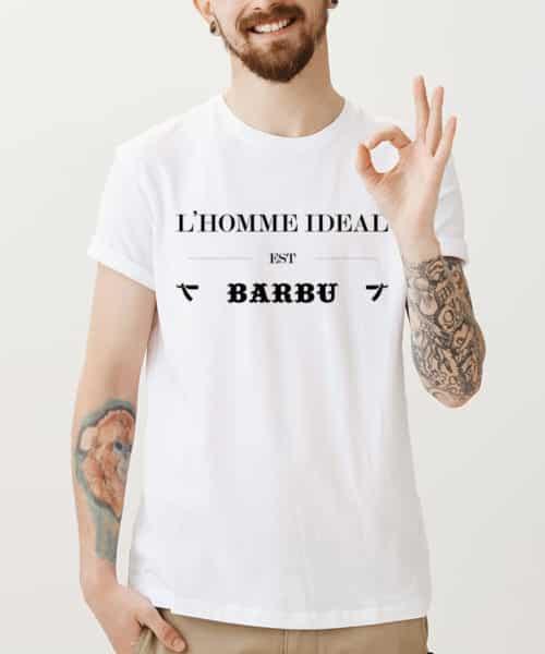 Image T-shirt homme idéal barbu