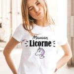 T-shirt mamounette Licorne