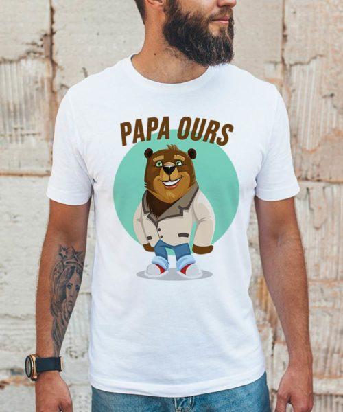 tee shirt papa ours