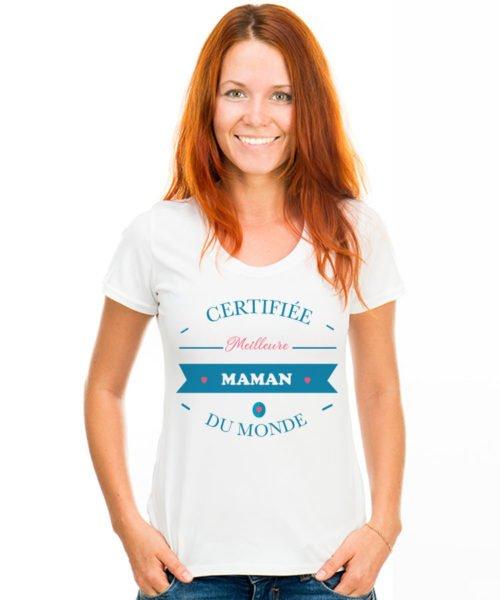 T-shirt meilleure maman du monde