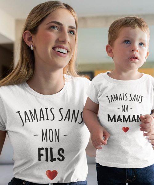 tee shirt jamais sans mon fils maman