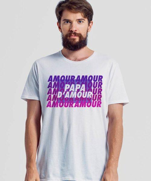 tee shirt papa d'amour