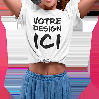 tee shirt personnalisé femme design
